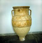 Terracotta storage jar, Heraklion Museum, Heraklion, Crete, Greece