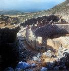 Royal Grave circle dating from 1600 to 1500 BC, Mycenae, Greece