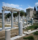 Greece Athens the Roman Agora the South Portico and the Tower of the Winds a  Water Tower 50BC