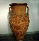 Storage jar, Heraklion Museum, Heraklion, Crete, Greece