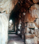 East Gallery, Mycenaean fortress, Tiryns, Greece