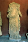 Hygieia (daughter of Asclepius) statue in the Epidaurus Museum Greece
