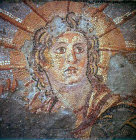 Helios crowned with the shining aureole of the sun, Achaeological Museum of Sparta, Greece