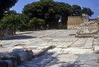 Greece, Crete, Knossos, Palace of Minos 2800-1100 BC ceremonial entrance to the Palace