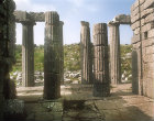 Greece, Bassae, Temple of Apollo Epicurius, late 5th century BC, north portico from the Naos
