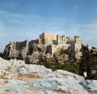 Greece Athens the Acropolis from the Areopagus,  a hill sacred to Ares, St Paul preached here