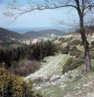 Via Egnatia, Roman road that runs between Philippi and Neapolis, present day Kavalla, Greece