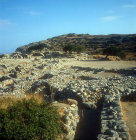 Ruins of early Minoan town of Gournia, Crete, Greece