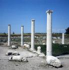 Part of portico of building, circa 300 BC, Pella, Greece
