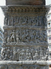 Detail of battle scene on Arch of Galerius, built 303 AD, Salonika (Thessalonica) Greece