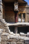 Greece, Crete, Knossos, Palace of Minos 2800-1100 BC west Porch