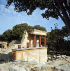 Greece, Crete, Knossos, Palace of Minos, the Bull Portico