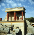 Greece, Crete, Knossos, the Bull Verandah