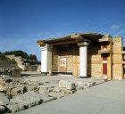 Greece, Crete, Knossos, Palace of Minos, the south Propylon, or monumental gateway