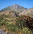 Acropolis and Mount Elias from the south, Mycenae, Greece