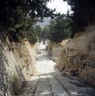 Greece, Crete, Knossos, Minoan road 1600 BC