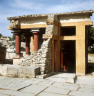 Greece, Crete, Knossos, Palace of Minos, entrance to the Lustral Bath