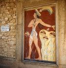 Greece, Crete, Knossos, Palace of Minos, fresco of the Priest King