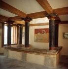 Greece, Crete, Knossos, Palace of Minos, room of frescoes