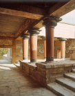 Greece, Crete, Knossos, Verandah of the Royal Guard