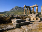 Corinth Greece the Temple of Apollo and  Acrocorinth 6th century BC