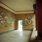 Greece, Crete, Knossos, Palace of Minos, Verandah of the Royal Guard