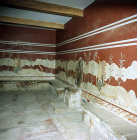 Greece, Crete, Knossos, Palace of Minos, the throne room