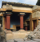 Greece, Crete, Knossos, entrance to the Lustral Bath