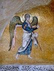 Archangel Gabriel, eleventh century mosaic, monastery church, Daphni, Greece