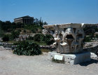 Greece Athens Athenian Agora the 5th century BC Temple of Hephaistos in the foreground