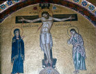 Greece, Hosios Loukas monastery, Crucifixion, 11th century