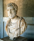 Greece Athens Marble bust of the Emperor Antoninus Pius AD 138-161 found in a well of the Omega House Athenian Agora