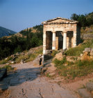 Greece Delphi Treasury of the Athenians erected 490-489 BC