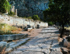 Large polygonal wall of the Sanctuary of Apollo and the Stoa of the Athenians, Delphi, Greece