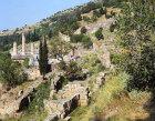Temple of Apollo and theatre, both fourth century BC, Delphi, Greece