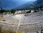 Theatre with Temple of Apollo beyond, both fourth century BC, Delphi, Greece