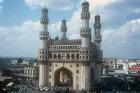 Charminar, built circa 1590,  Hyderabad, India