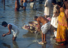 Bathing in the Ganges, Varanasi, India