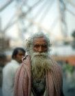 Holy man near Howrah bridge, Calcutta, India