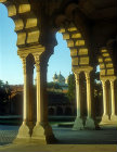 Red fort, sixteenth century, Diwan-i-am and pillars, Agra, India