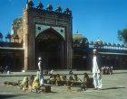 Jami Masjid, sixteenth century, Koranic school in courtyard, Fatehpur Sikri, India