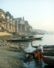 Bathing in the Ganges, Benares, India