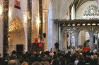 Israel, Jerusalem, Rowan Williams, the former Archbishop of Canterbury preaching to the congregation in St George