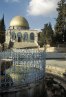 Israel, Jerusalem, the Dome of the Rock and Ablutions Fountain in the foreground