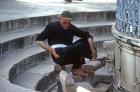 Israel, Jerusalem, Muslim washing before praying