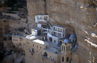 Israel, Greek Orthodox Monastery of St George, Wadi Qilt, founded in the fourth century, present building dating from the nineteenth century, aerial view