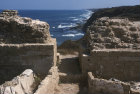 Israel, Apollonia, ruins of fortress at Tel Arsuf north of Herzliya overlooking the sea