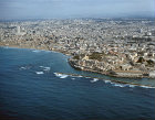 Jaffa (Joppa), ancient city port, aerial view from south west, Israel