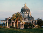 Mount of the Beatitudes, Franciscan Church built in 1937 on ruins of fourth century Byzantine church, above the Sea of Galilee, Israel
