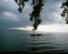 Israel, storm coming up over the Sea of Galilee